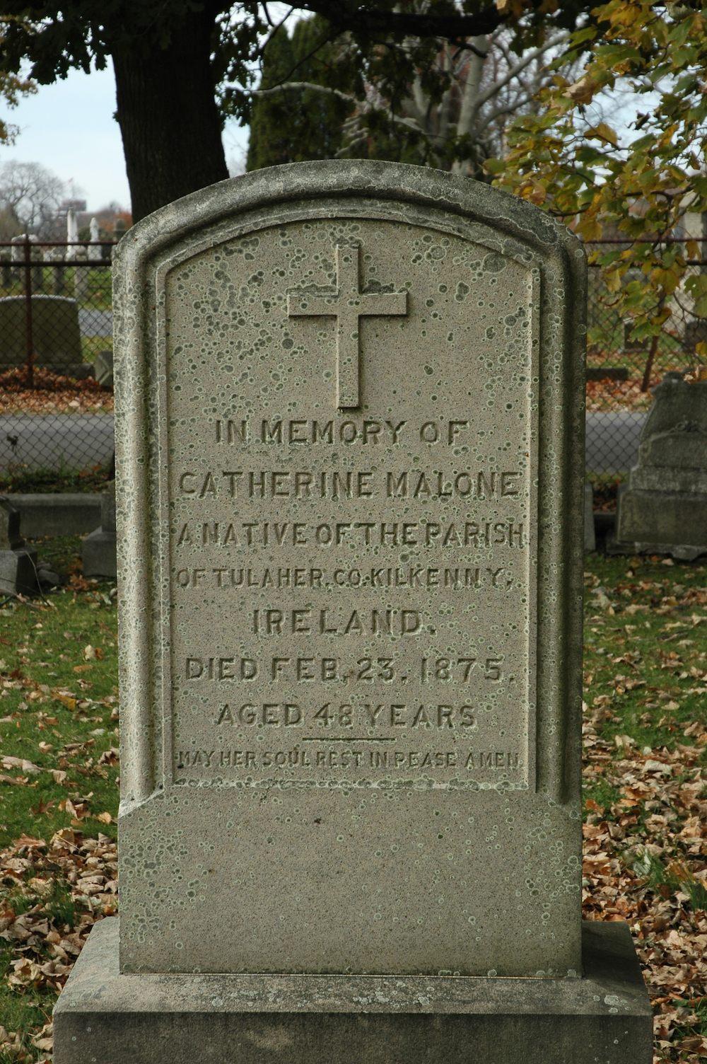 Grave of Catherine Malloy