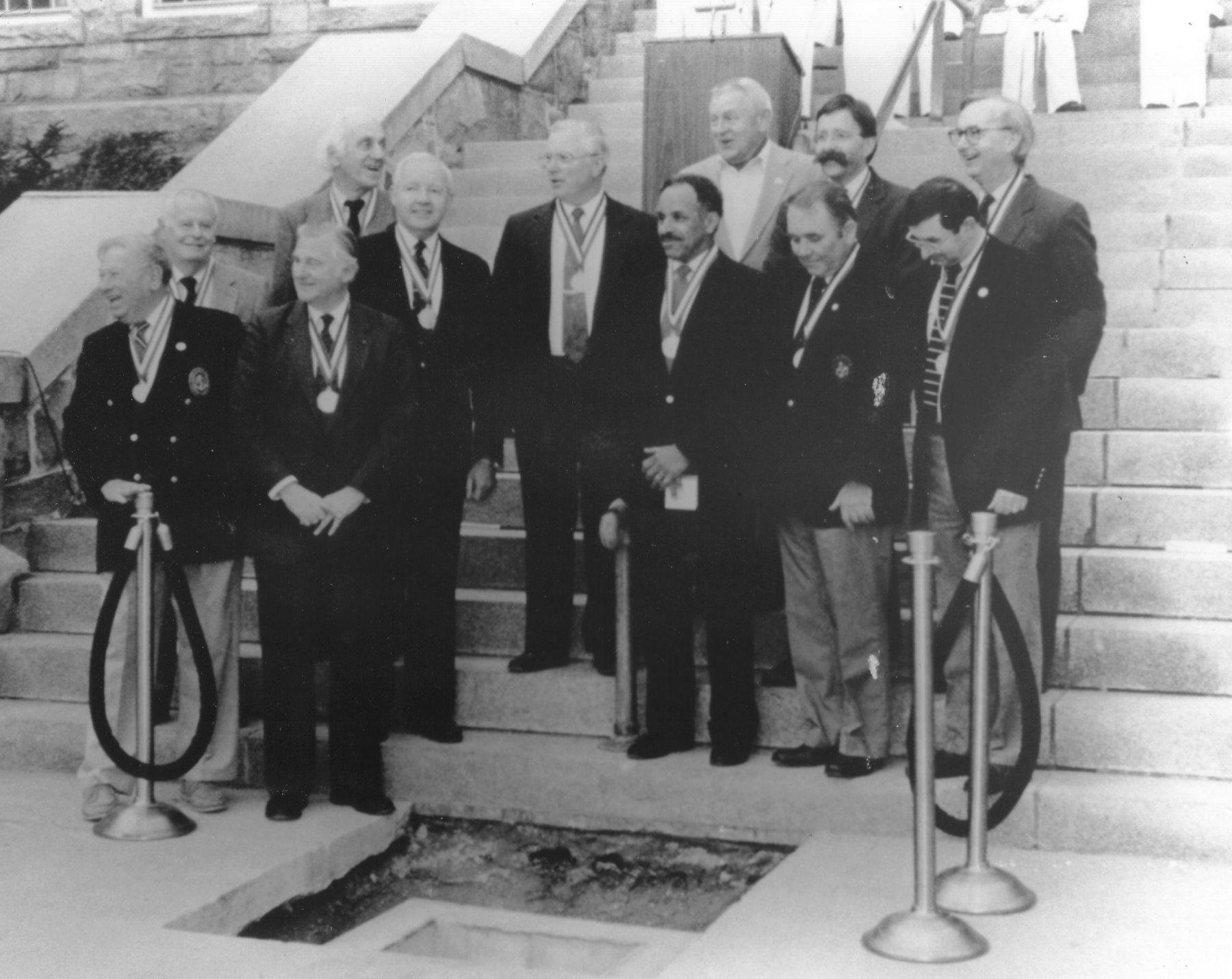 Former Newport Mayors at Newport City Hall