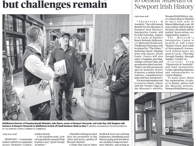"Newport Daily News – Fundraiser planned to benefit Museum of Newport Irish History"""