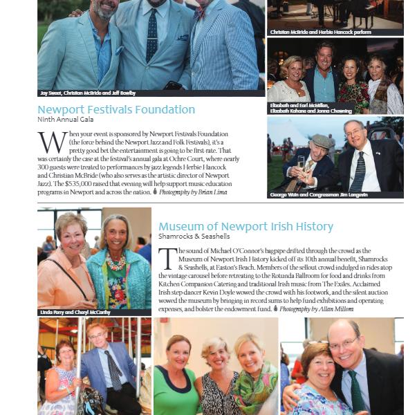 "Newport Life Magazine – ""Shamrocks & Seashells Benefit for Museum"""