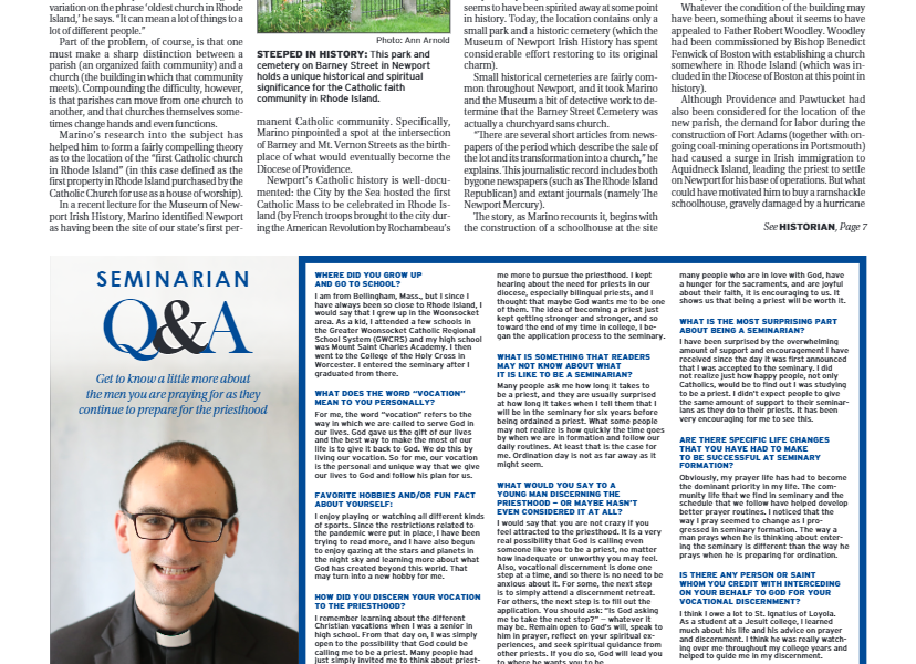 """Rhode Island Catholic – """"Historian goes in search of the first Catholic Church in Rhode Island"""""""