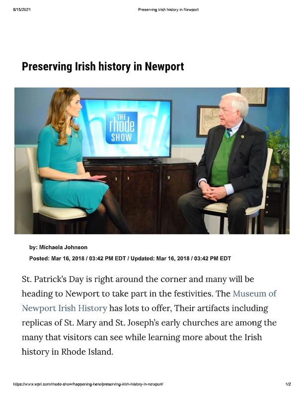 Preserving Irish history in Newport