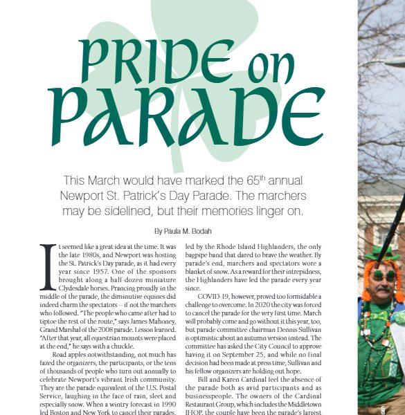 "Newport Life Magazine – ""Pride on Parade"" (a retrospective of the Newport St. Patrick's Day Parade)"